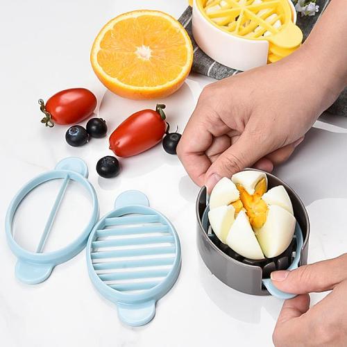 Portable Egg Tools Egg Cutter Vegetable Fruit Strawberry Cutter Stainless Steel Egg Slicer Egg Gadgets Kitchen Accessories