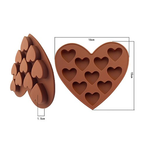 Amazing New Silicone Ice Cube Tray Easy Pop Maker Heart Shape Cubes Chocolate Mould Valentines Gift Great Idea Make Ice Cubes