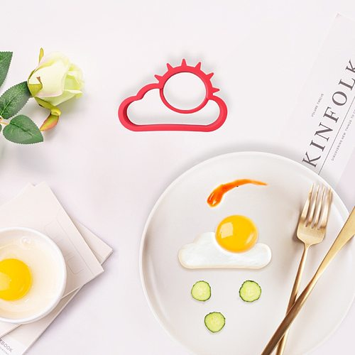 Egg Tools Kitchen Gadgets Silicone Egg Holder Cooking Utensils Kitchenware Fried Egg Mold DIY Breakfast Pancake Rings