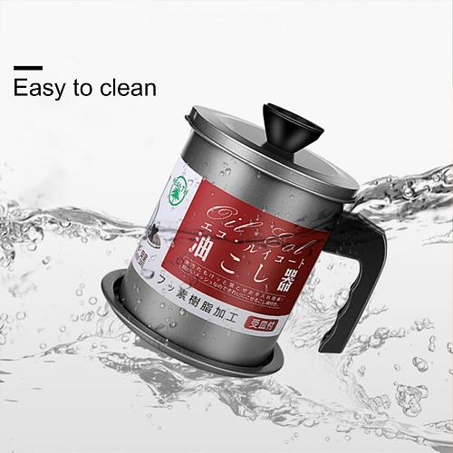 Large Capacity Stainless Steel Residue Filter Oil Storage Can with Strainer With Anti-scalding Handles kitchen Accessories Tool