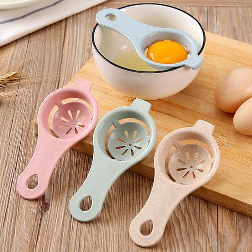 Egg Separator Eggs Yolk Filter Gadgets Eco Friendly Plastic White Yolk Sifting Home Tool Kitchen Accessories -Random Color