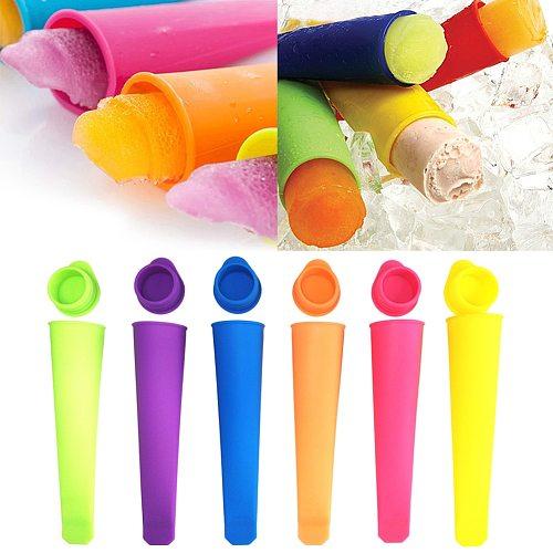 Colorful DIY Ice Cream Ice Mold Silicone Mold Silicone Handheld Popsicle Mold Tray Moldes De Silicon Para Helados Drop Shipping