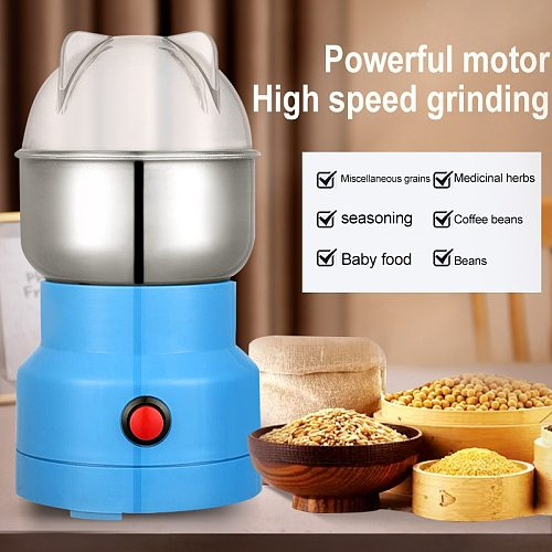 Powerful Electric Coffee Grinder Stainless Steel Grains Spices Pepper Herbs Nuts Mill Machine Home Coffee Bean Grinder 110V/220V