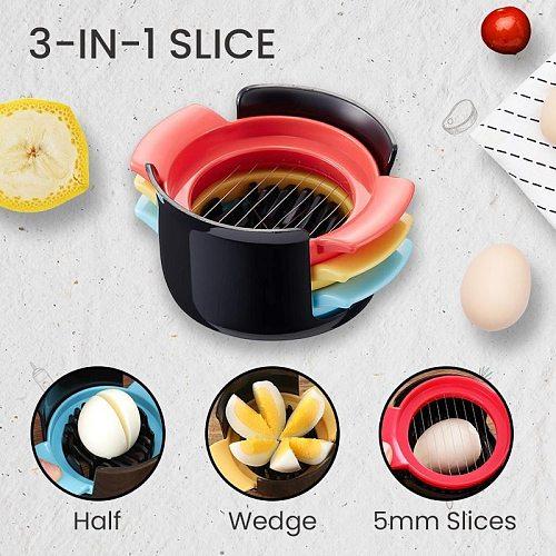 Multifunctional Egg CutterEgg Cutter Multi-Functional Egg Slicer 3in1 kitchen gadgets Household Kitchen Egg Tools Kitchen Gadget