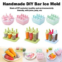 Ice Cream Mold Summer Ice Cream Frozen Ice Cube Ice Tray Making Ice Box Popsicle Box Set Popsicle Popsicle Kitchen Gadgets