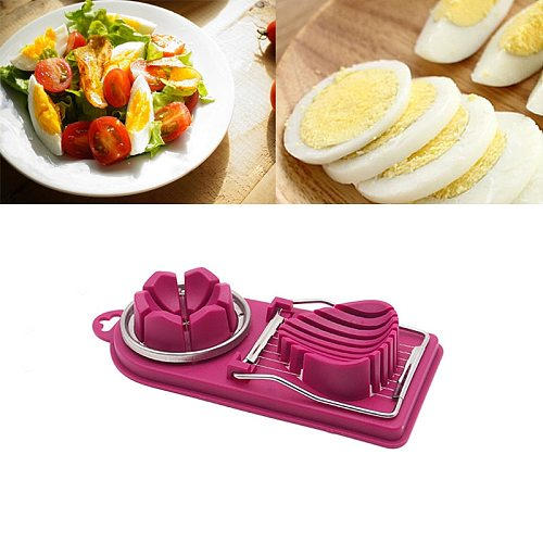 Stainless Steel Egg Cutter Egg Slicer For Kitchen Multifunctional Fruit Vegetable Slicing Cooking Tool Kitchen Accessories