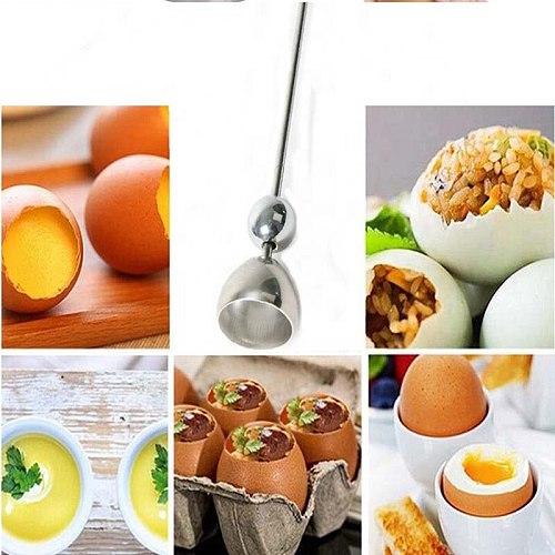 Egg Opener Egg Shell Opener Stainless Steel Shell Shearer Cutting Egg Shell Tool Egg Artifact Kitchen Cooking Tool MeasuringBall