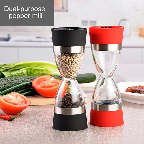Dual-purpose Pepper Mill  Shape Dual  Pepper Mill Spice Grinder Pepper Shaker For Kitchen Cooking Tools