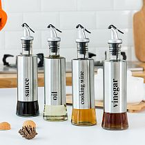 Oil Pot Creative Stainless Steel Household Seasoning Bottle Soy Sauce Bottle Kitchen Herb Spice Tool Cooking Accessories 30ML .