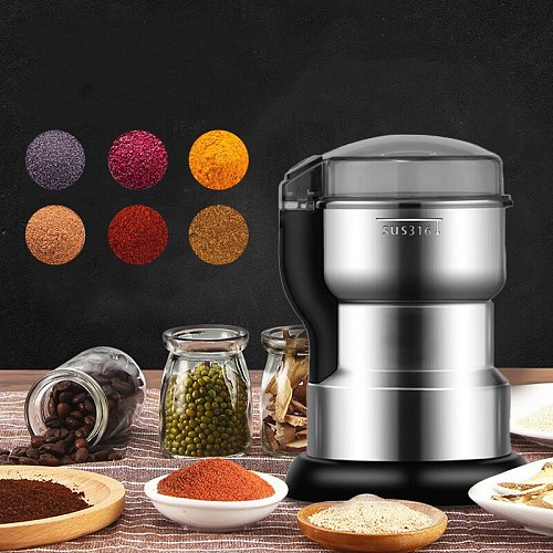 Electric Coffee Grinder Kitchen Tools Herb Nuts Beans Spices Grains Grinder Machine Multifunctional Home Coffee Bean Grinder