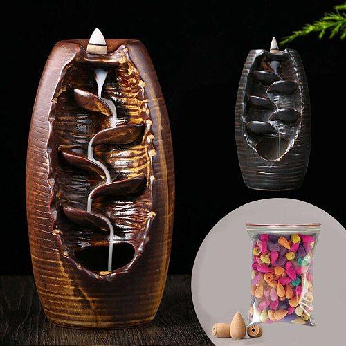 Multi-layers Backflow Ceramic Incense Burner Table Ornament Sandalwood Incence Burner Smoke Back-flow Censer Cone Holder Craft