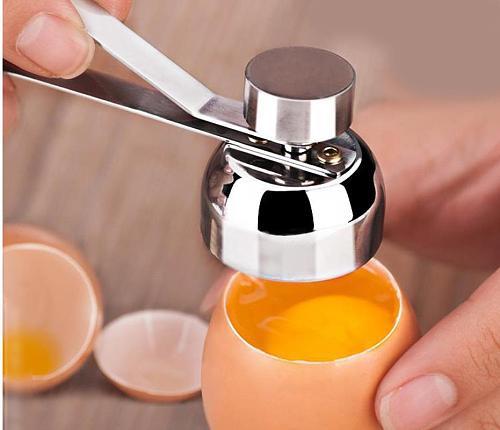 Stainless Steel Boiled Egg Shell Top Cracker Cutter Knocker Raw Egg Cracker Separator Egg Opener Kitchen Gadgets