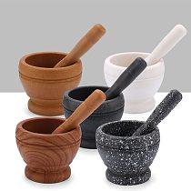 Marble Mortar And Pestle Set Grinder Bowl Multifunction Foods Garlic Grinder Spices Tool Kitchen Tool