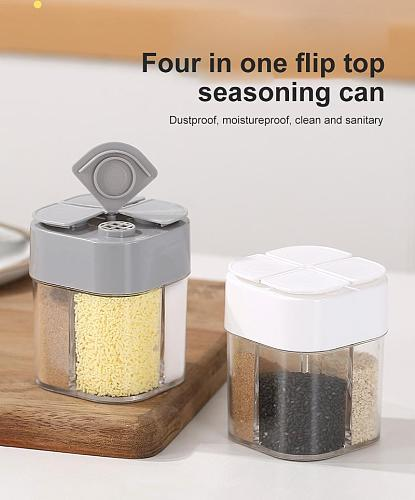 1PC Creative New Plastic Spice Salt Pepper Shakers Seasoning Jar Can Barbecue Condiment Jar Bottles Container Kitchen Seasoning