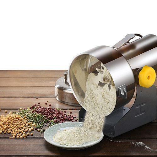 800g Grains Spices Hebals Cereals Coffee Dry Food Grinder Miller Grinding Machine gristmill home medicine flour powder crusher