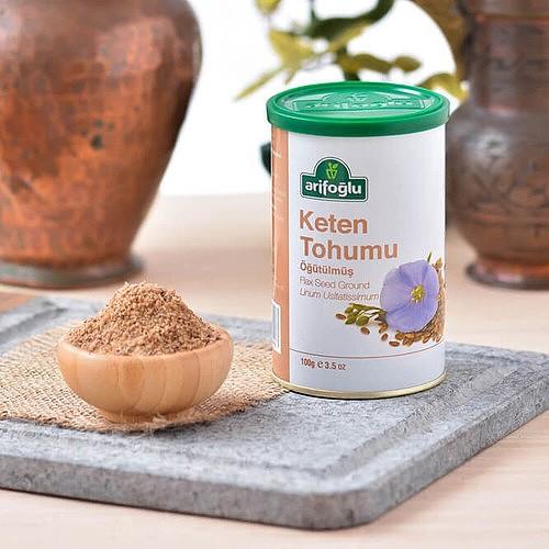 Arifoğlu Milled Flax Seed, 100 g (Tin Box)