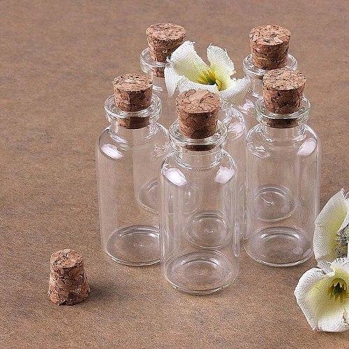 8 pcs Mini glass bottle with cork stopper/small glass bottles/Mini bottle/Mini bottle with cork 22 x 50mm Transparent