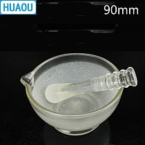 HUAOU 90mm Glass Mortar with Pestle Laboratory Chemistry Equipment