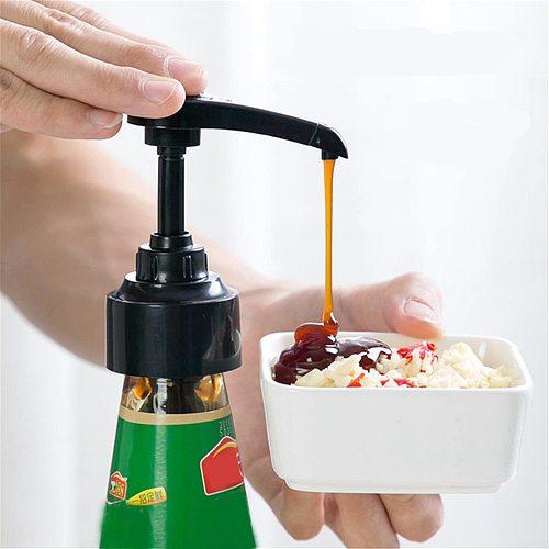 Syrup Bottle Nozzle Pressure Oil Sprayer Household Pumps Push-type Kitchen Portable Tools Bottles Stopper Dispenser Plastic