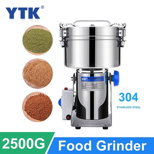 2500G Grinder Large-scale Crusher Household Steel Mill Commercial Powder Machine Ultra-fine Grinding Machine Stainless Mill
