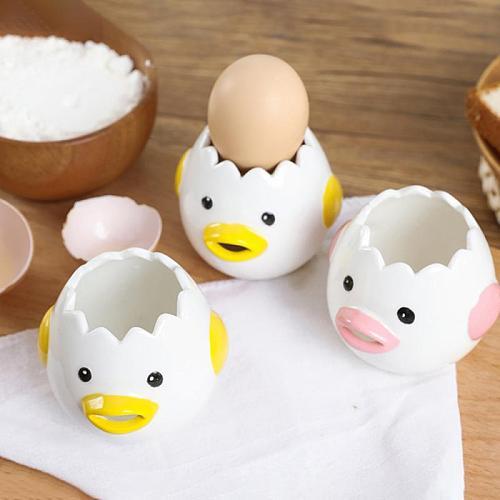 Egg Yolk Separator Vomit Chicken High-quality Ceramics Easy Operation Non Rust Egg Cracker Separator Durable Kitchen Accessories