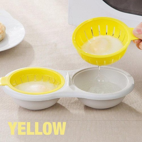 Edible Silicone Drain Egg Boiler Breakfast Cooker Steamed Egg Poacher Cookware Ovens Double Layer Eggs Cooking Kitchen Tools