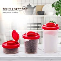 Plastic Salt and Pepper Shakers with Lid Travel Seasoning Container Mini Seasoning Box Salad Dressing Containers Kitchen tool