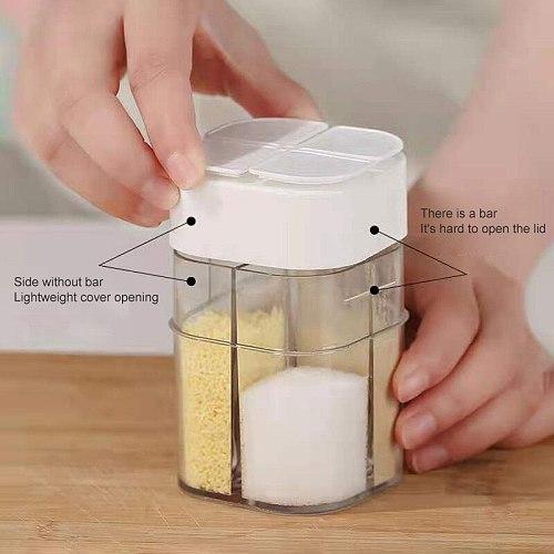 Plastic Spice Jar Condiment Dispenser Salt And Pepper Shakers Seasoning Bottle Kitchen Accessories Tank Salt Tank Canister Set