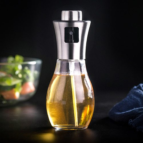2021top home decor Leakproof stainless steel olive oil sprayer oil spray bottle kitchen seasoning soy sauce barbecue bottle