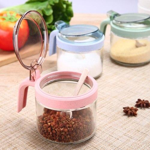 Creative wheat  condiment jar kitchenware condiment straw glass box condiment box household condiment bottle
