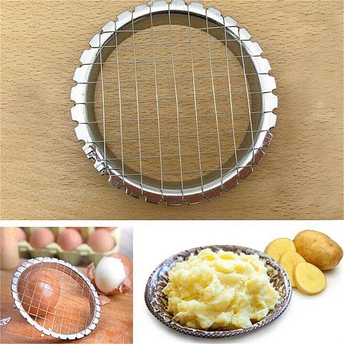 Mashed Potato Hand Press Slicer Grid Cutter Egg Slicer Potato Slicer Mold Tomato Sectioner Salad Tool Stainless Steel Creativity