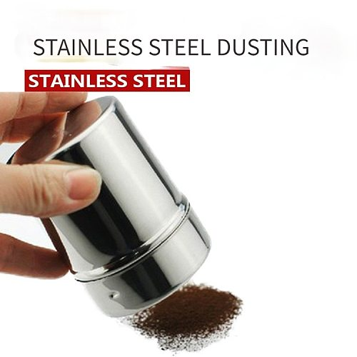1Pc Stainless Steel S/M/L Specification Sprinkle Cocoa Cinnamon Sugar Gauze Mesh Jar Seasoning Bottle Fancy Coffee Powder Duster