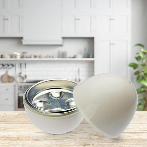 Egg-shaped Egg Steamer Kitchen Gadgets 4 Eggs Cooker Boiler For Microwave
