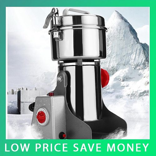 800G Stainless Steel Electric Coffee Bean Nut Spice Grinder Mill 220V 50HZ
