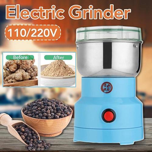 Electric Herbs Spices Nuts Grains Coffee Bean Grinder Mill Grinding DIY Tool Home Medicine Flour Powder Crusher Grain Grinder