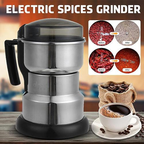 Electric Coffee Grinder Spices Grinders Cereal Nut Bean Grain Food Grinding Machine Multifunction Home Kitchen
