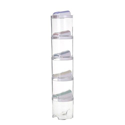 5Pcs/Set Seasoning Spice Plastic Bottles Jars Boxes Kitchen Storage Organizer Condiment Lid Can Cover Organization Accessories