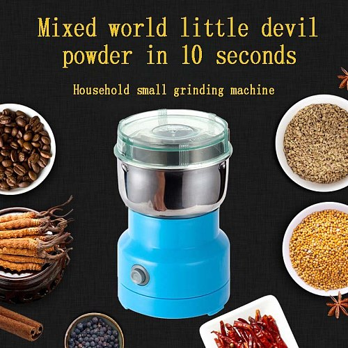 Electric Stainless Steel Coffee Bean Grinder Home Herb/Spice Grinding Milling Machine Mill Coffee Accessories Kitchenware