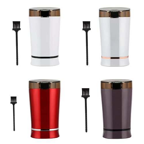 Mini Electric Coffee Beans Grinder Kitchen Salt Pepper Mill Herbs Nuts Spices Grind Stainless Steel Blades 220V