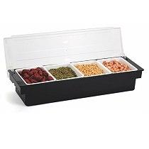 Multi Grid Fruit Box Fruit Box Six Grid Seasoning Box Bar Utensils Cocktail Decoration Box