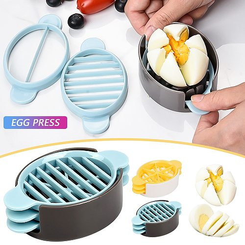 Multi-function Manual Strawberry Cutter,is Suitable For Hard Boiled And Fruits Convenient Egg Tools Kitchen Accessories