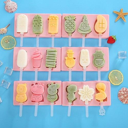 Silicone Ice Cream Ice Cream Mold DIY Ice Cream Box Cover Children's Homemade Ice Cream Popsicle Mold Manufacturer
