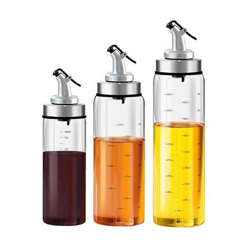 Seasoning Bottle Dispenser Glass Storage Bottle For Oil Vinegar Kitchen Creative Tool Home Kitchen Accessories