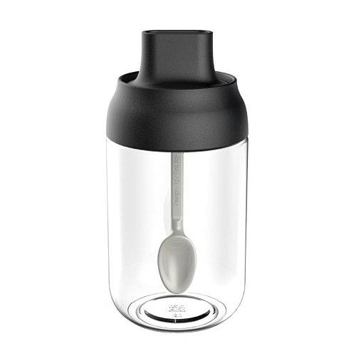 Spice Jar Storage Versatile Airtight Easy Clean ABS Glass Salt Honey Oil Seasoning Bottle for Home Kitchen