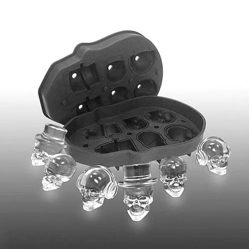 1pc 3D Skull Silicone Mold Ice Cube Maker Chocolate Mould Tray Ice Cream DIY Tool Whiskey Wine Cocktail Ice Cube