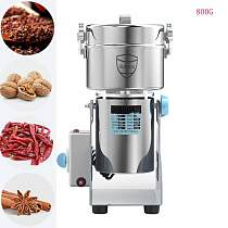 800G Dry Material Grinder Medicine Powder Crusher Mill Nut Corn Flour Grinding Machine Food Spices Grains Coffee Bean Grinder