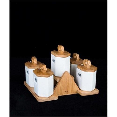 5 piece Porcelain Spice Rack high quality