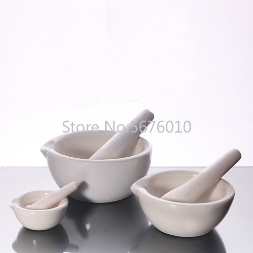 Ceramic Mortar with Pestle Grinding Bowl of Mashed Chemistry Laboratory Equipment  Pharmacy Mortar for Pounding