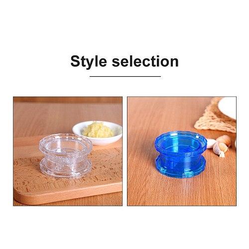 1PC Garlic Press Chopper Plastic Clear Manually Presser Garlic Grinder Crusher Twist Mashed Garlic Slicer Kitchen Tools 2 Colors