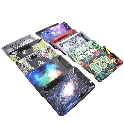 Weed tray Rolling Tray Tobacco Storage Plate  Discs for Smoke Rolling Herb Grinder Water Pipe Hookah  Accessories